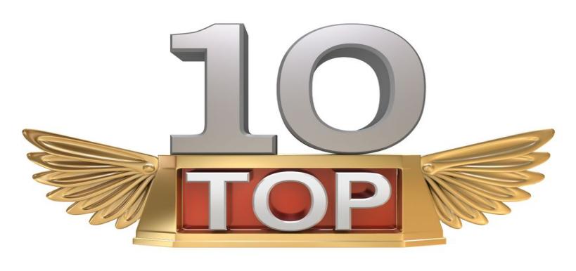 Top 10 - tio i topp hos Google
